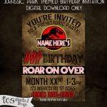 Pinchristie Rogers On Birthday Invites | Personalized Birthday   Free Printable Jurassic World Invitations