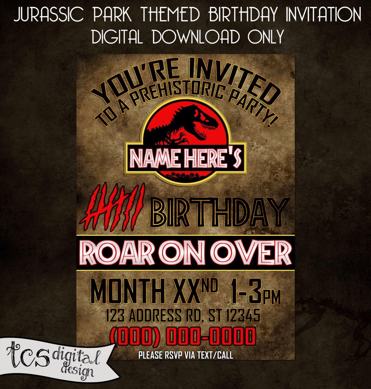Pinchristie Rogers On Birthday Invites | Personalized Birthday - Free Printable Jurassic World Invitations