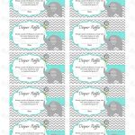 Pincindy Wallace On Diy | Baby Shower Diapers, Baby Shower   Free Printable Diaper Raffle Tickets Elephant