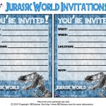 Pincrafty Annabelle On Dinosaurs Printables In 2019 | Jurassic   Free Printable Jurassic World Invitations