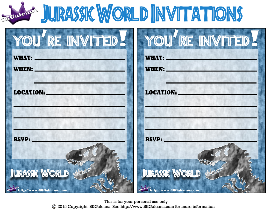 Pincrafty Annabelle On Dinosaurs Printables In 2019 | Jurassic - Free Printable Jurassic World Invitations