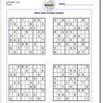 Pindadsworksheets On Math Worksheets | Sudoku Puzzles, Math   Download Printable Sudoku Puzzles Free
