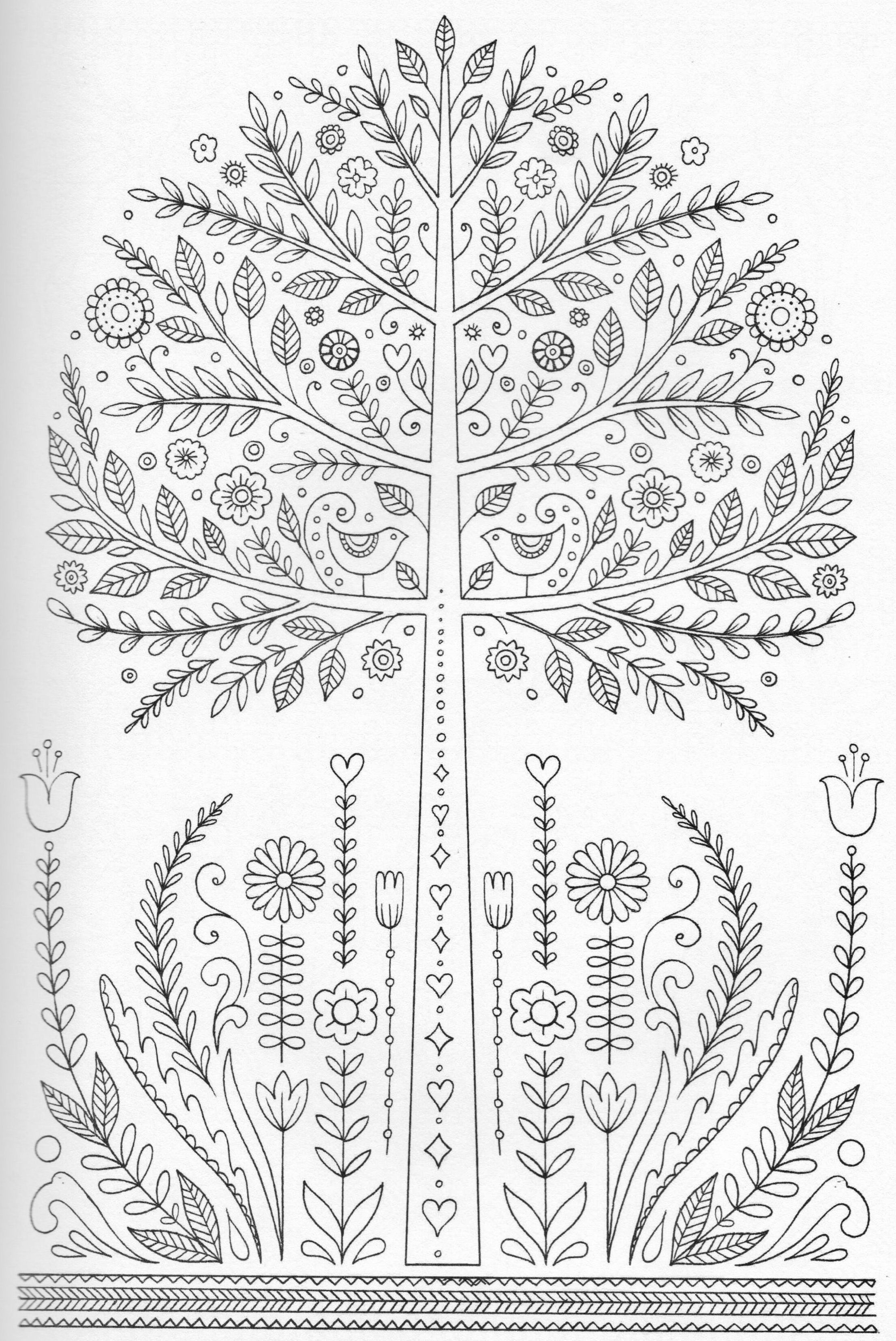 Pindeanna Lea On Color Plants | Tree Coloring Page, Coloring - Tree Coloring Pages Free Printable