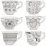 Pindeb Sherman On Coloring | Dover Coloring Pages, Free Adult   Free Printable Tea Cup Coloring Pages