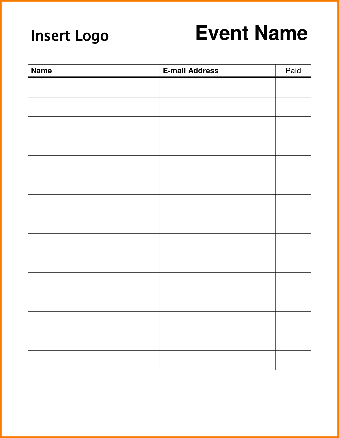 Pindonna Silva On Dojo Marketing Ideas | Sign In Sheet, Sign In - Free Printable Sign Up Sheet