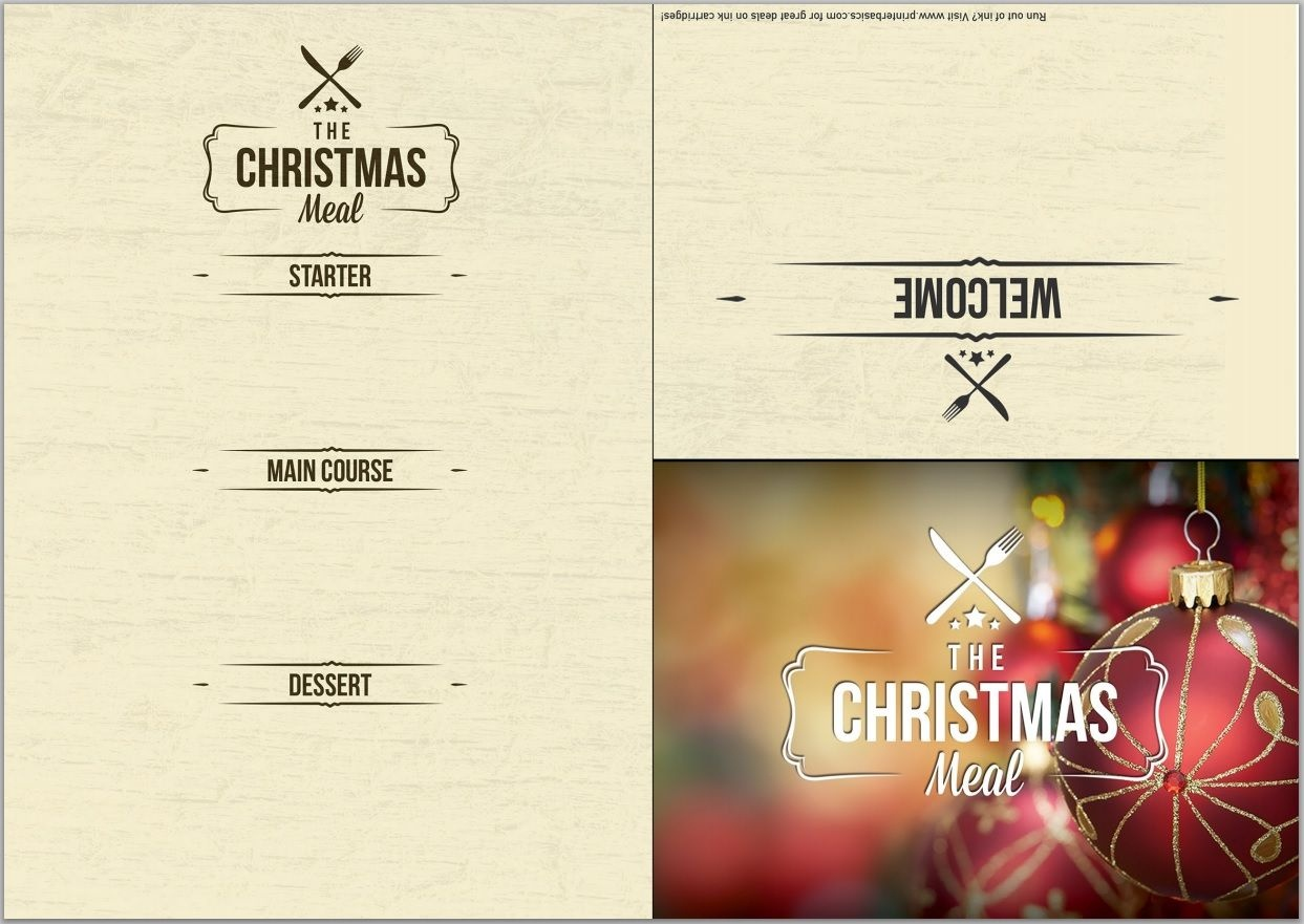 Pineliza Phaneuf Hall On Christmas Eve Party | Menu Template - Christmas Menu Printable Template Free