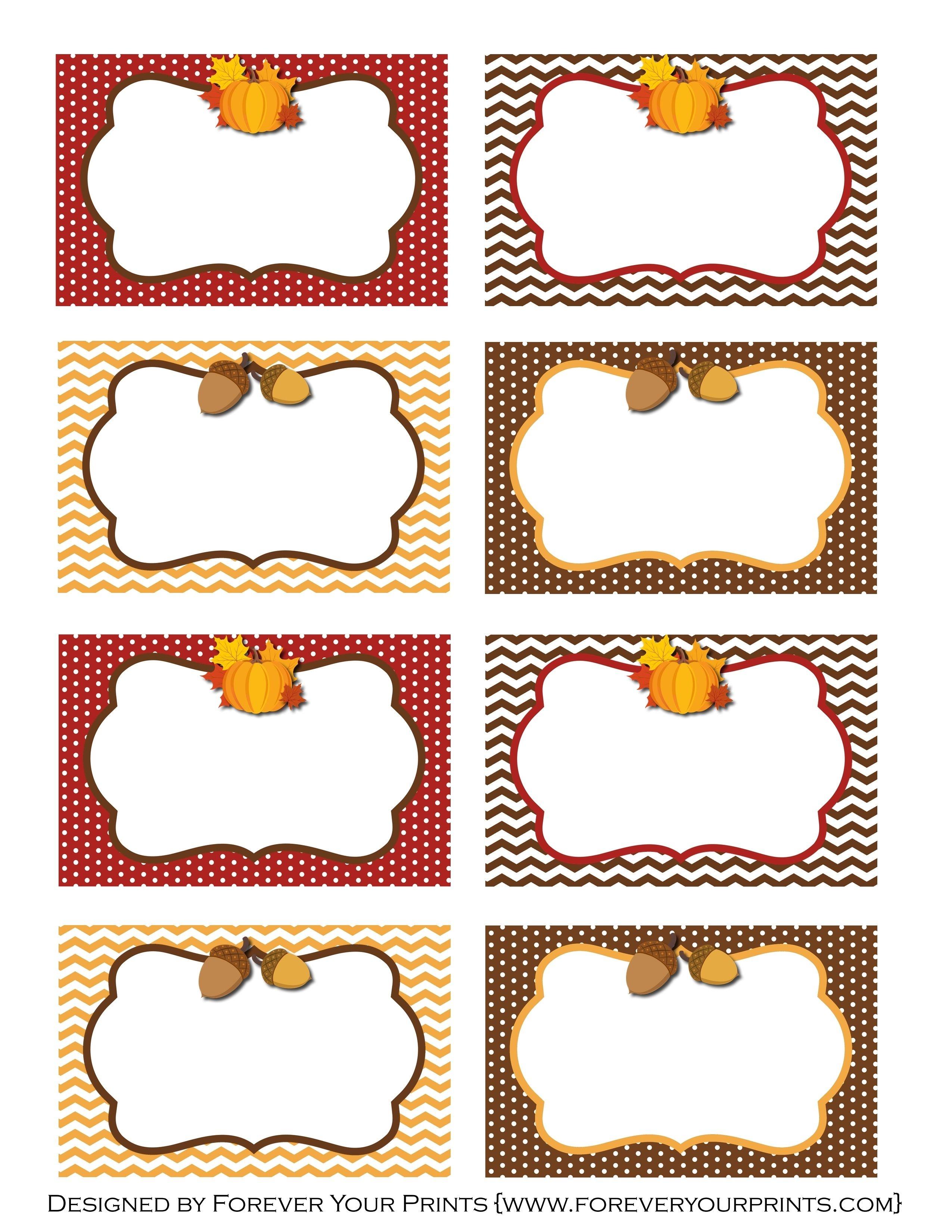 Pinirene Bortolussi On Thanksgiving   Free Thanksgiving - Free Thanksgiving Printables Place Cards