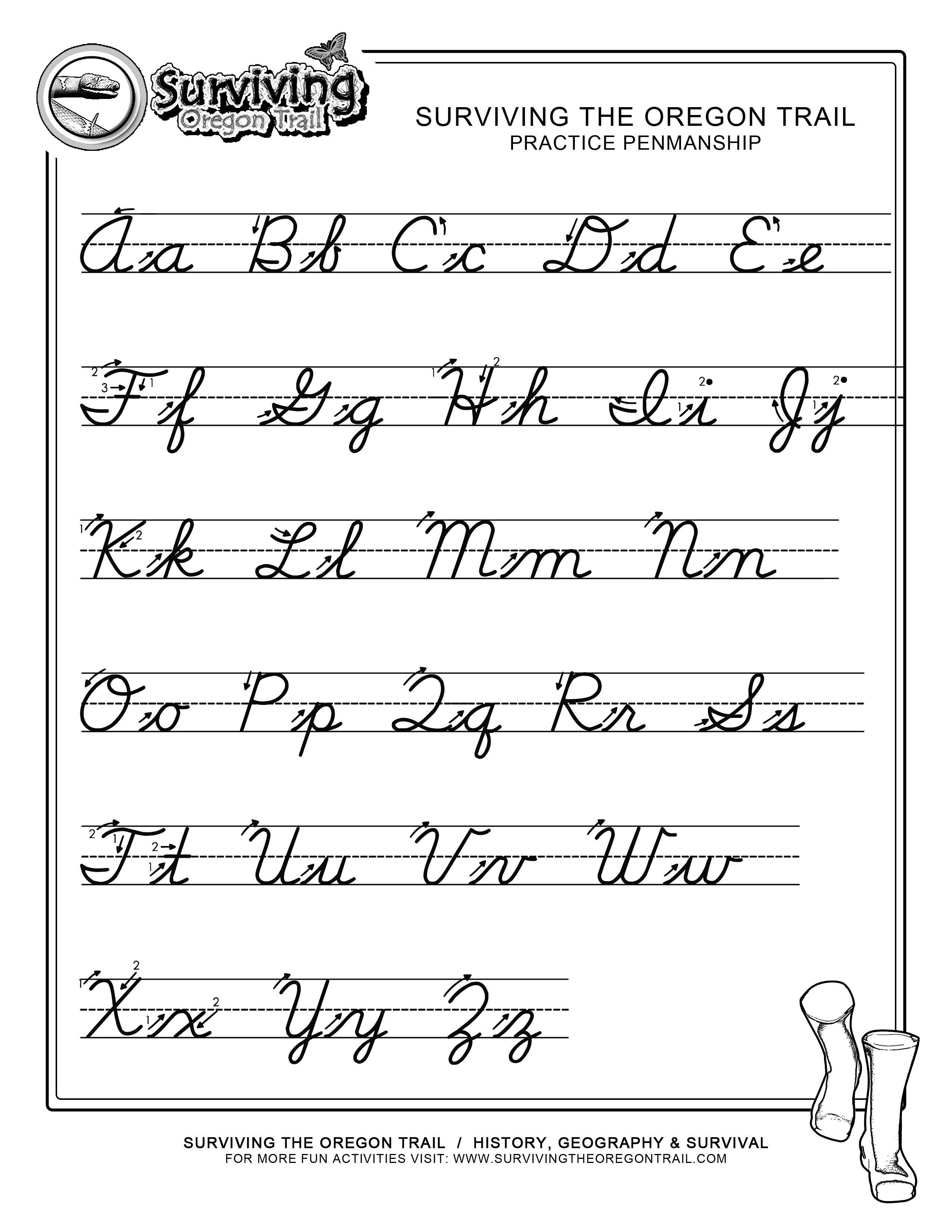 Pinjessica From Honeysuckle & Vine On Homeschool | Cursive - Free Printable Cursive Handwriting Worksheets