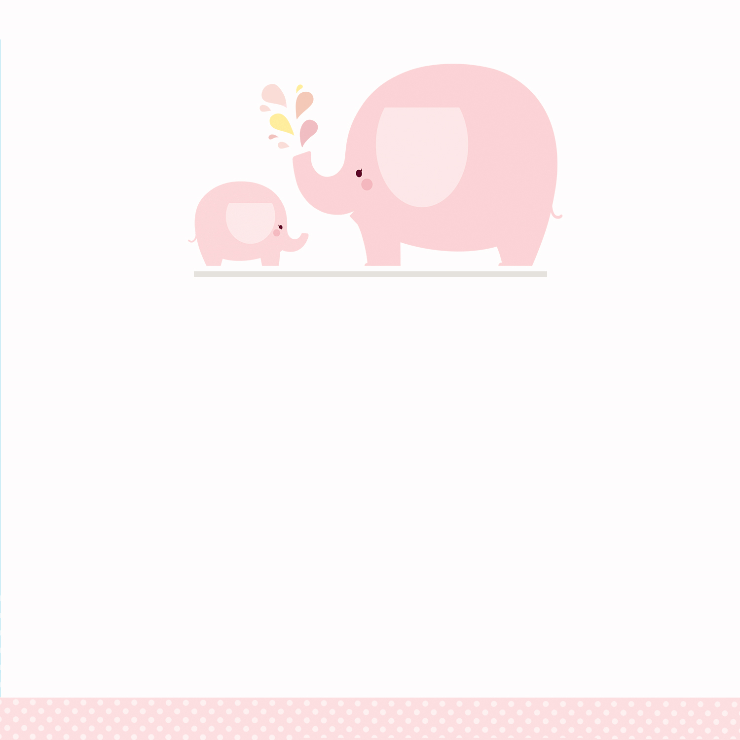 Pink Baby Elephant - Free Printable Baby Shower Invitation Template - Free Baby Elephant Printables