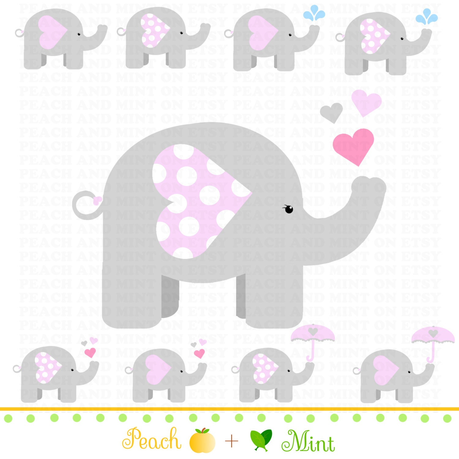 Pink Elephant Baby Shower Free Printables (82+ Images In Collection - Free Baby Elephant Printables