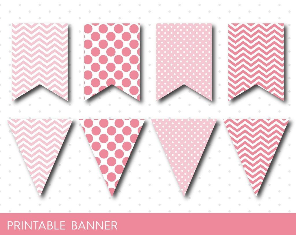Pink Party Banner, Pink Banner, Pink Birthday Banner, Pink Baby - Free Printable Pink Banner