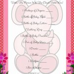 Pink Printable Price Is Right Baby Shower Game   Free Printable Price Is Right Baby Shower Game