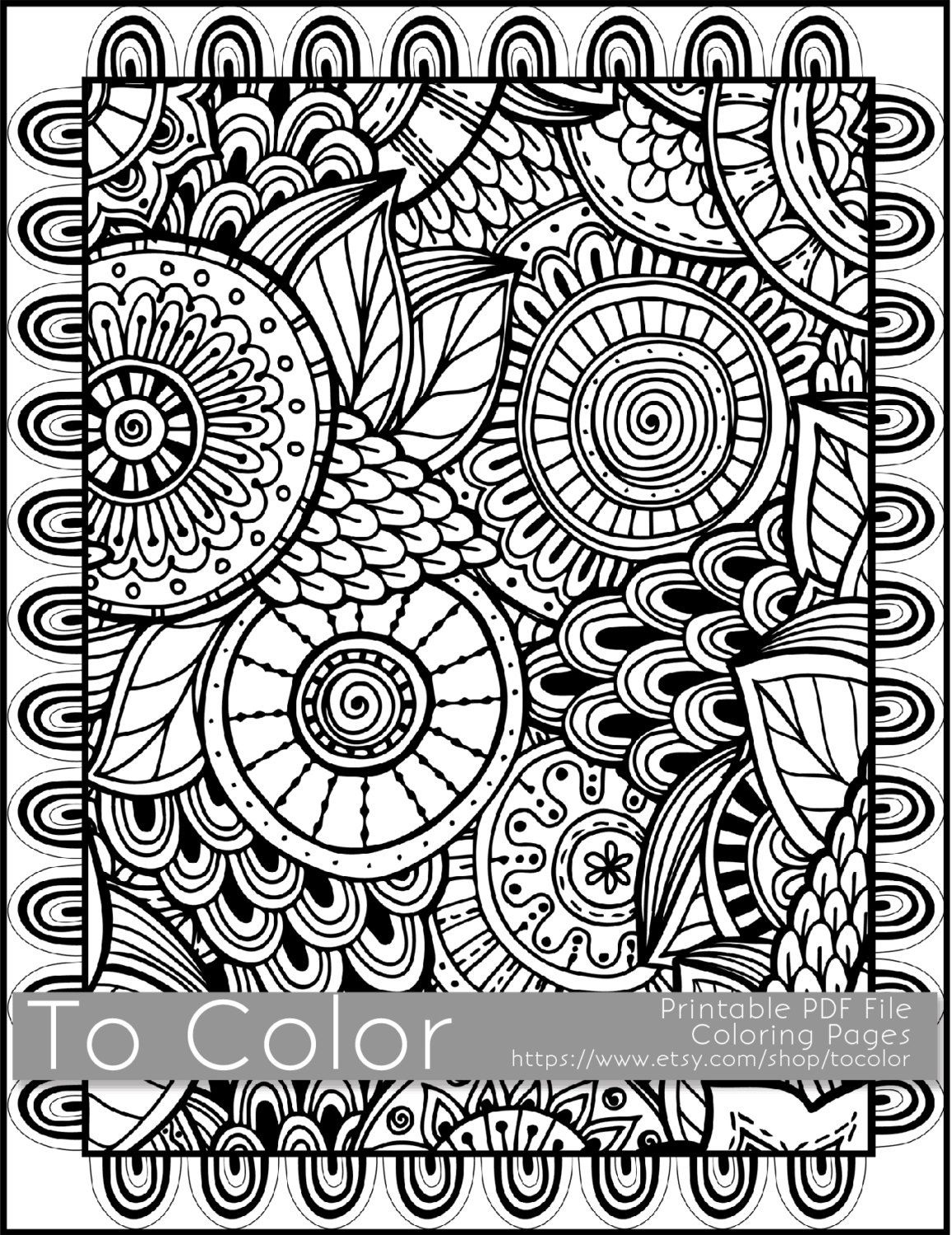 Pinkate Pullen On Free Coloring Pages For Coloring Fans | Adult - Free Printable Doodle Patterns