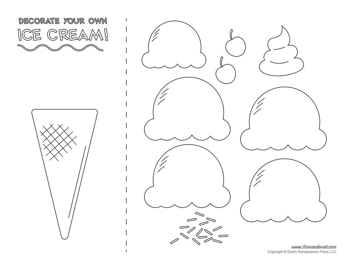 Pinmila Bravo On Ice Cream Decor | Ice Cream Crafts, Ice Cream - Ice Cream Cone Template Free Printable
