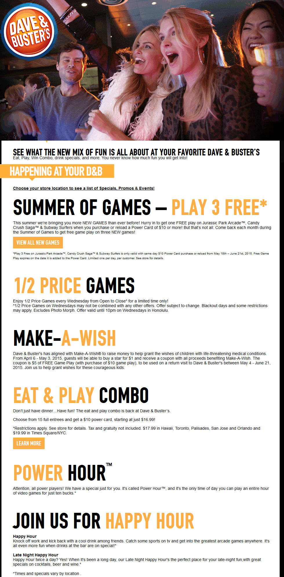 Pinned June 1St: 3 Free Games With Your Power Card & More At Dave - Free Printable Dave And Busters Coupons