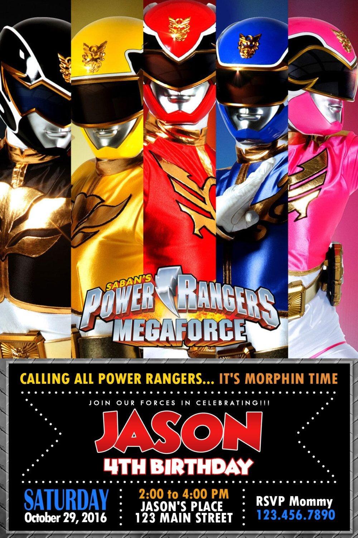 Pinoliviadollhouseatl On Power Rangers Party Activities In 2019 - Free Printable Power Ranger Birthday Invitations