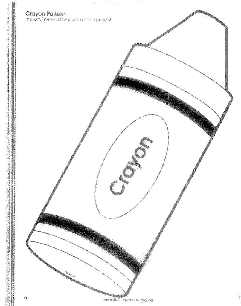 Pinpatricia Carrera On School | Crayon Template, Templates - Free Printable Crayon Pattern