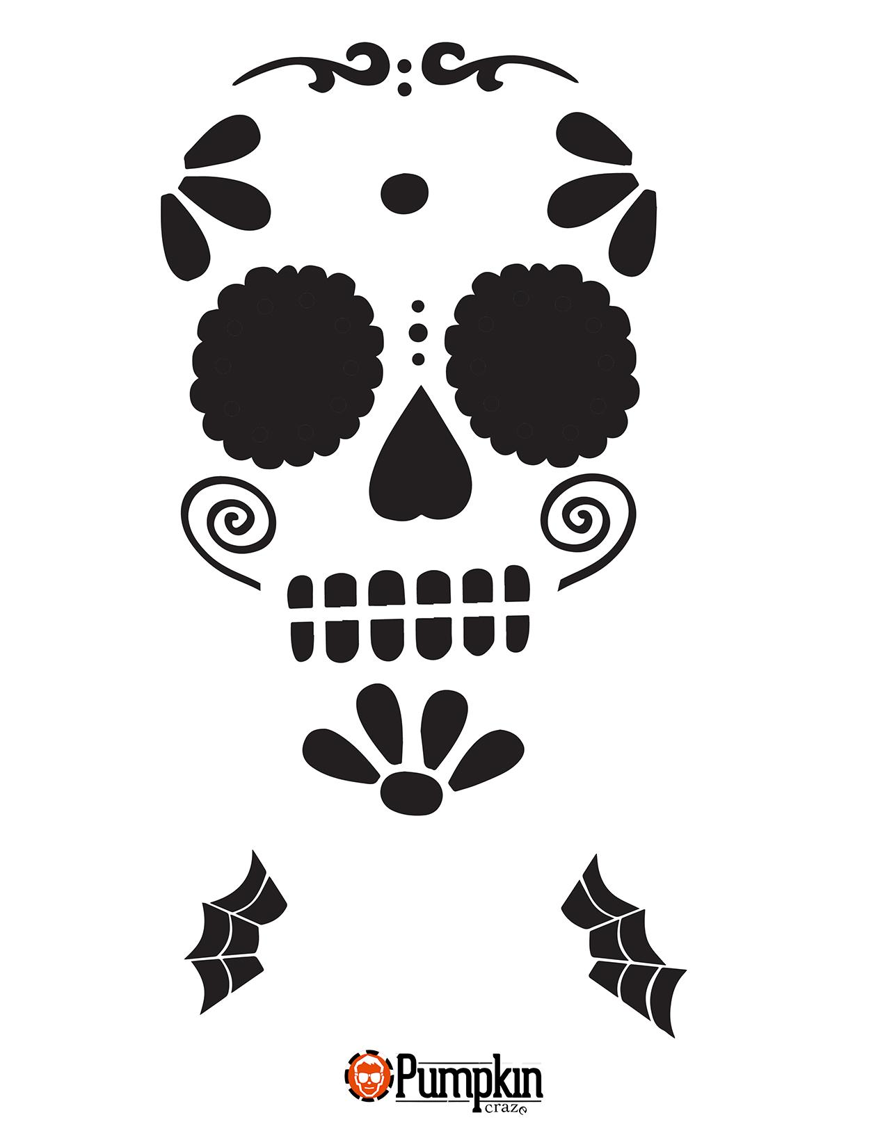 Pinrachel Gotta On All Hallows Eve In 2019   Sugar Skull Pumpkin - Free Printable Sugar Skull Pumpkin Stencils