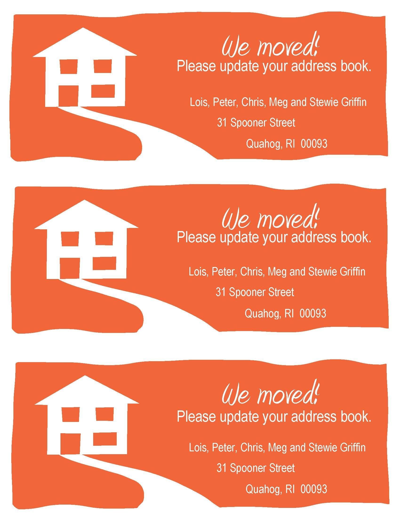 Pinroz Kravitz On Print Shoppe | Change Of Address Cards, Change - Free Printable Change Of Address Cards