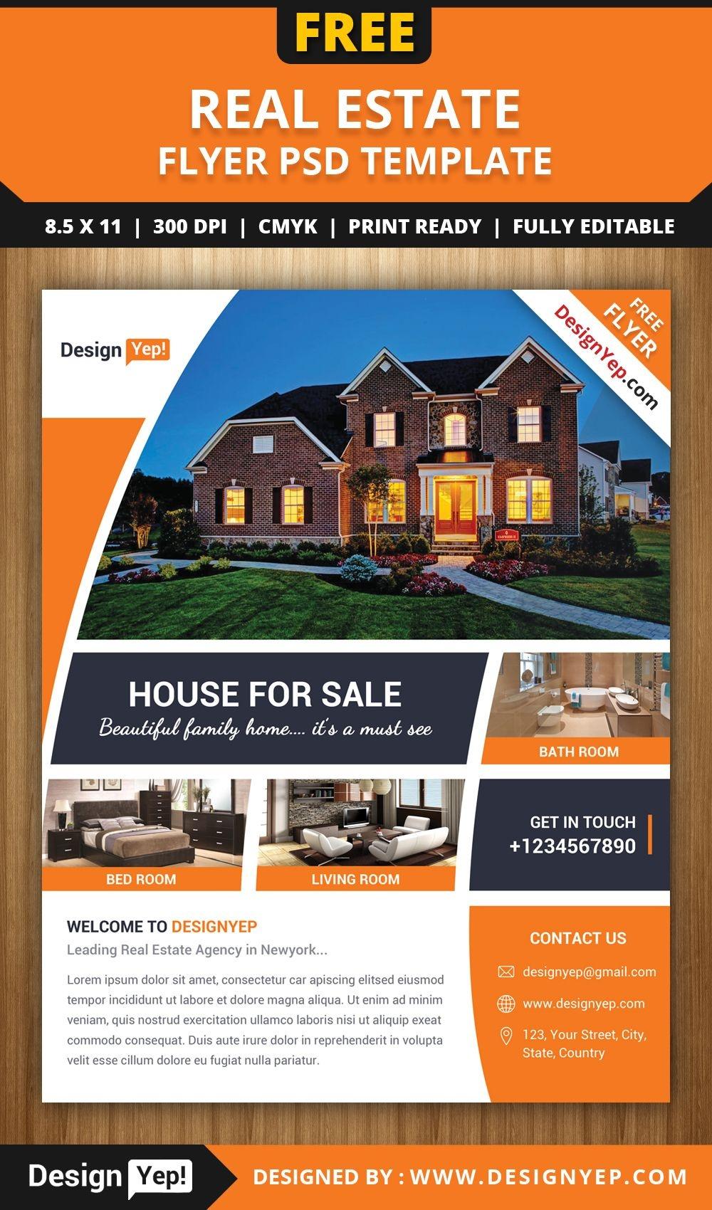 Pinsara On Design   Real Estate Flyer Template, Real Estate - Free Printable Real Estate Flyer Templates