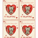 Pinterest   Free Printable Cat Valentine Cards