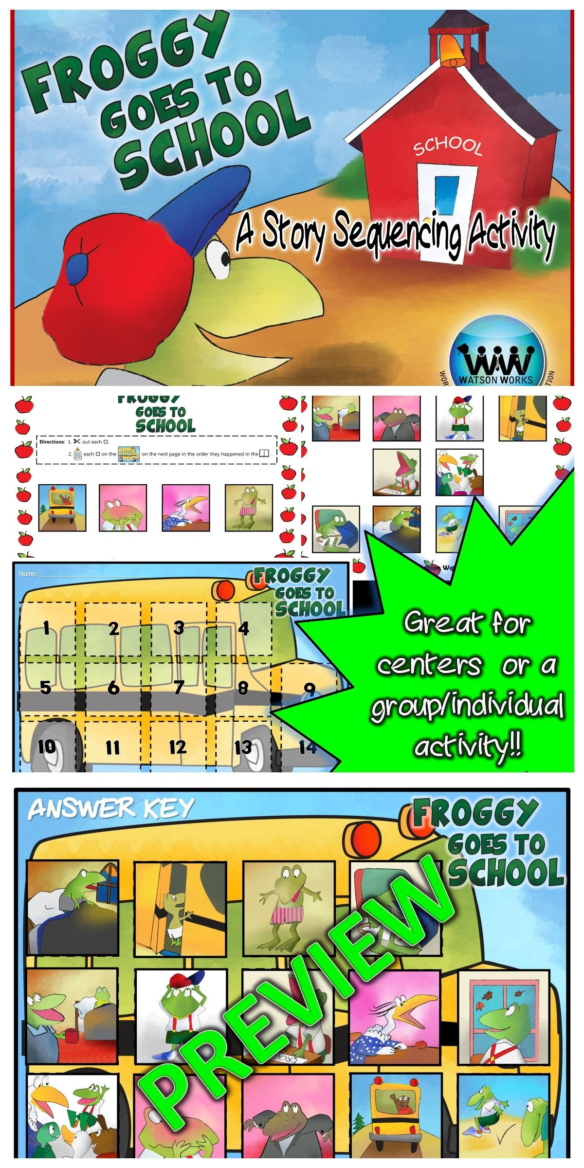 Pinterest - Froggy Goes To School Free Printables