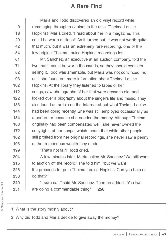 Pinvalerie Errickson On Informational Text   Reading Fluency - Free Printable Fluency Passages 3Rd Grade