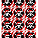 Pirate Birthday Party With Free Printables | Cairo's 3Rd Bday   Free Printable Pirate Cupcake Toppers