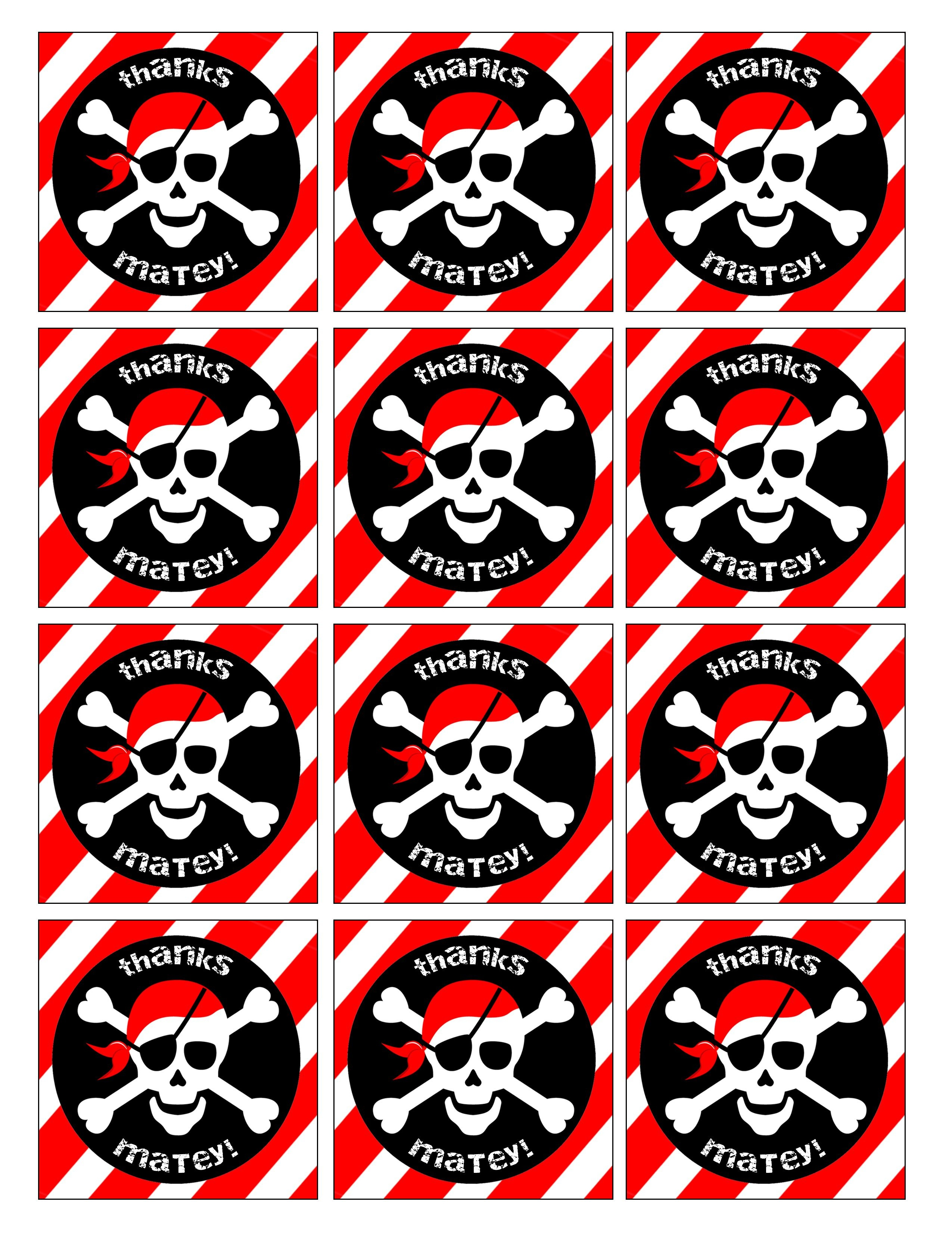 Pirate Birthday Party With Free Printables | Cairo's 3Rd Bday - Free Printable Pirate Cupcake Toppers
