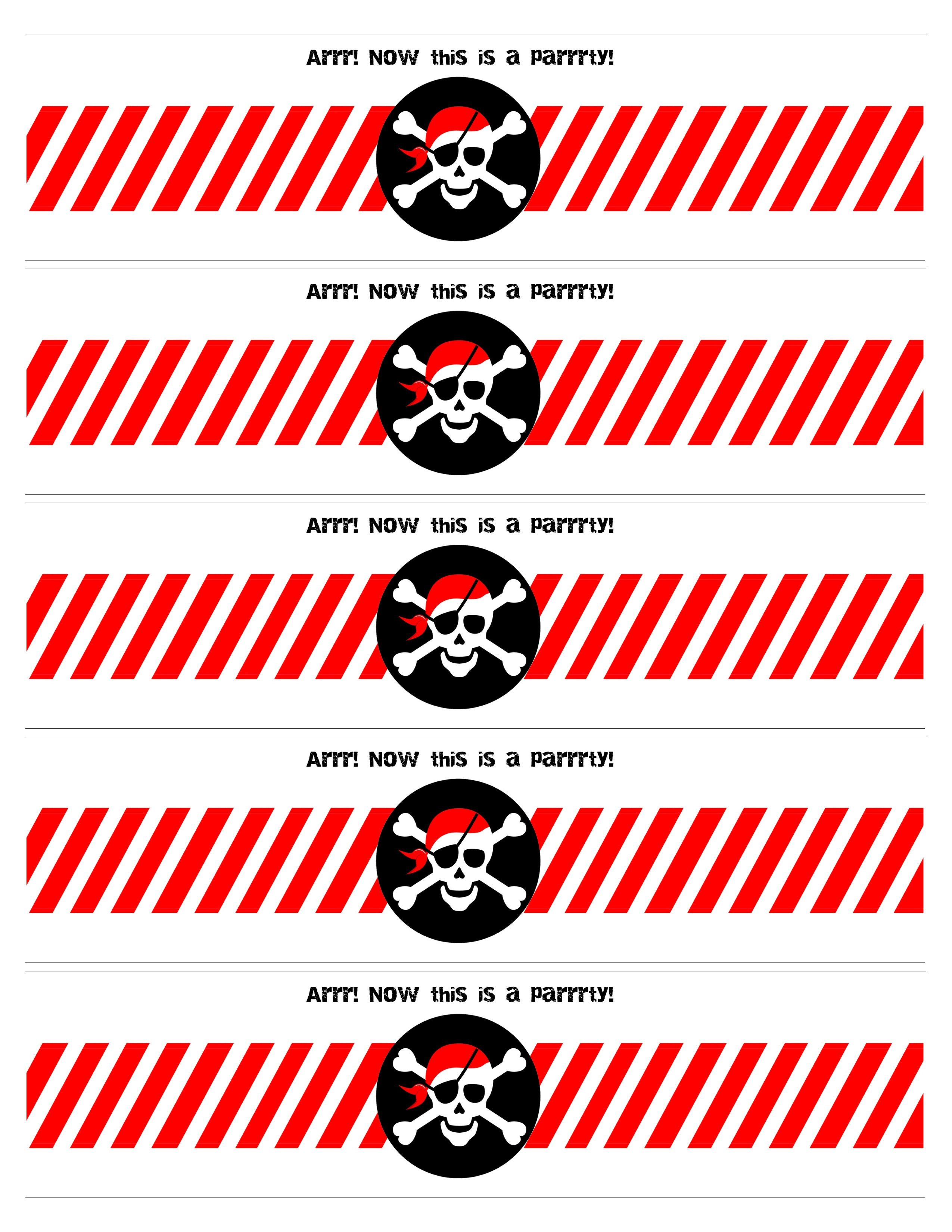 Pirate Birthday Party With Free Printables   Free Label Printables - Free Pirate Birthday Party Printables