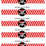 Pirate Birthday Party With Free Printables | Free Label Printables   Free Printable Pirate Cupcake Toppers