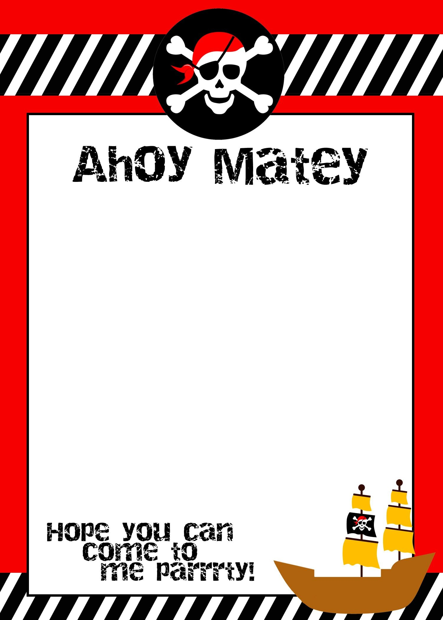 Pirate Birthday Party With Free Printables   Future Parties For My - Free Pirate Birthday Party Printables