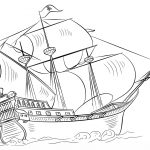 Pirate Ship Coloring Page | Free Printable Coloring Pages   Free Printable Boat Pictures