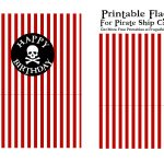 Pirate Ship Flag Printable Red | Birthday Party Ideas | Pirate Ship   Free Printable Pirate Cupcake Toppers