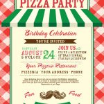 Pizza And Birthday Party Invitation Design Template Stock Vector   Free Printable Italian Party Invitations
