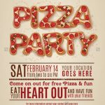 Pizza Party Invitation Template Free   Invitation Templates Design   Free Printable Flyers For Parties