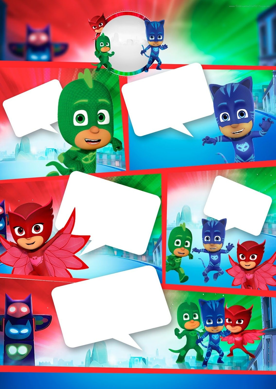 Pj Masks: Free Printable Invitations. | Perty In 2019 | Pj Mask - Free Printable Pj Masks Invitations