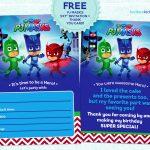 Pj Masks Invitation Printable   Free!   Free Printable Pj Masks Invitations