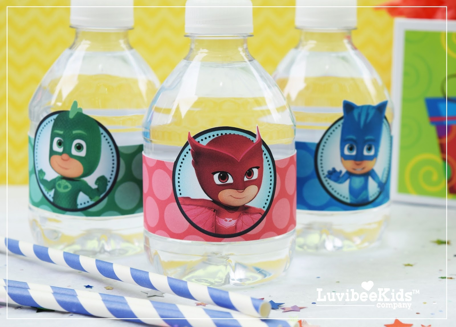 Pj Masks Water Bottle Labels - Free Printable - Pj Mask Free Printables