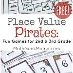 Place Value Pirates: Free Printable Math Game   Place Value Game Printable Free