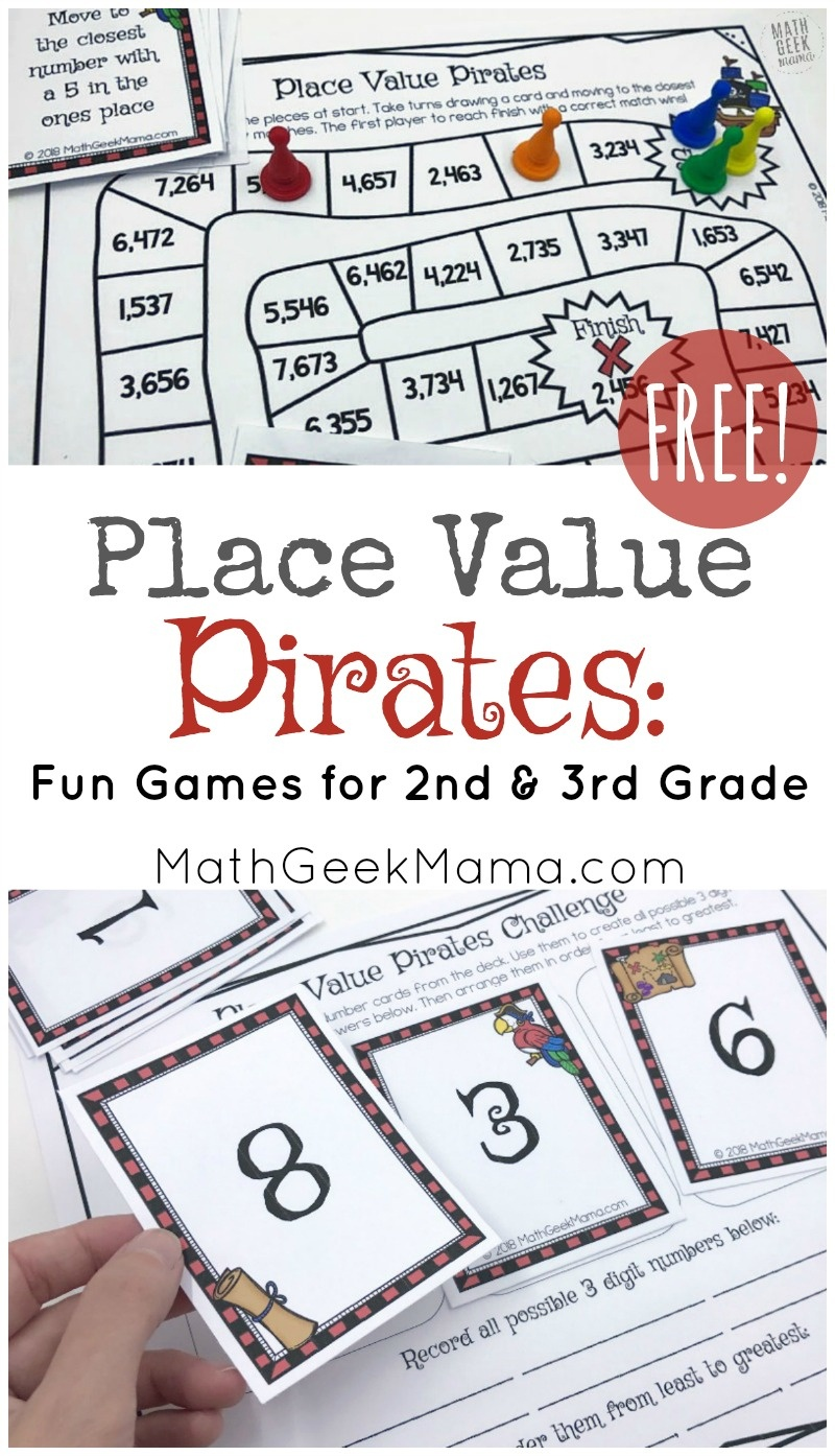 Place Value Pirates: Free Printable Math Game - Place Value Game Printable Free