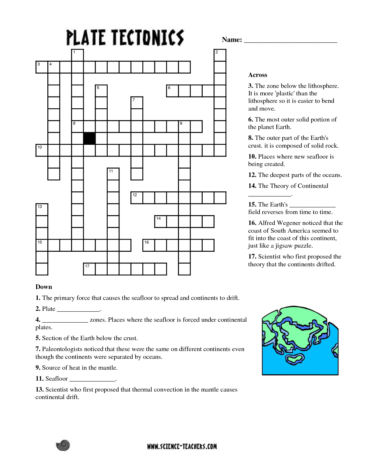 Planets Crossword Puzzle Worksheet - Pics About Space | Fun Science - Free Printable Science Crossword Puzzles