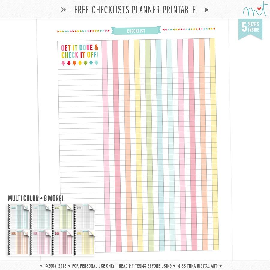 Planner Printables | Misstiina - Free Printable Organizer 2017