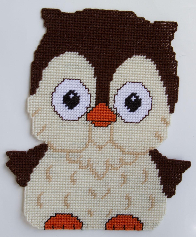 Plastic Canvas-Owl Wall Hanging Plastic-Canvas-Kits - Free Printable Plastic Canvas Patterns
