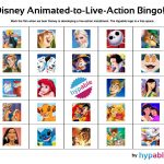 Play Our 'disney Animated To Live Action' Bingo Game! | Hypable   Free Printable Disney Stories