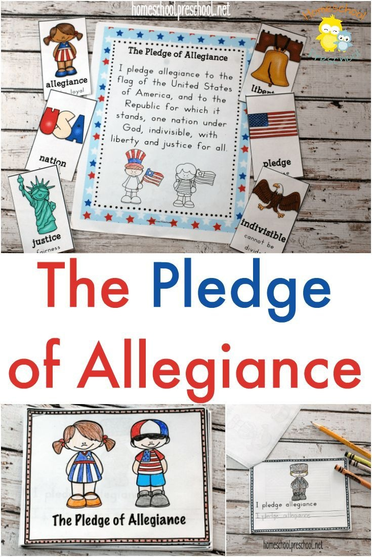 Pledge Of Allegiance Printables | Independence Day Theme- Weekly - Free Printable Drug Free Pledge Cards