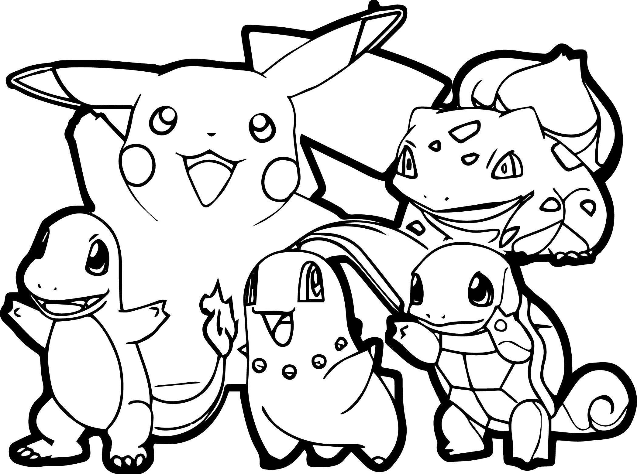 Pokemon For Children - All Pokemon Coloring Pages Kids Coloring Pages - Pokemon Printables Free