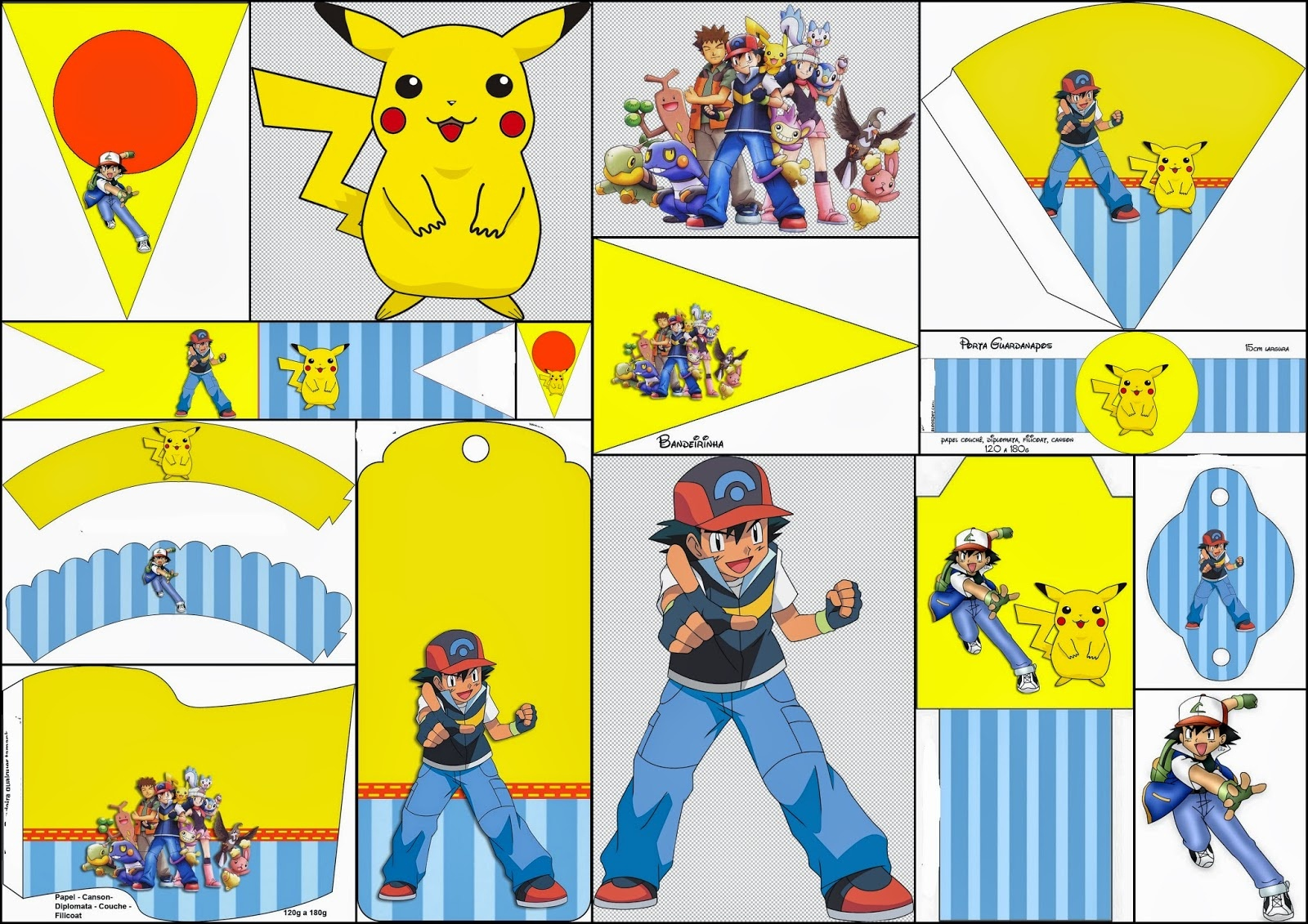 Pokemon: Free Party Printables And Images. - Oh My Fiesta! For Geeks - Pokemon Printables Free