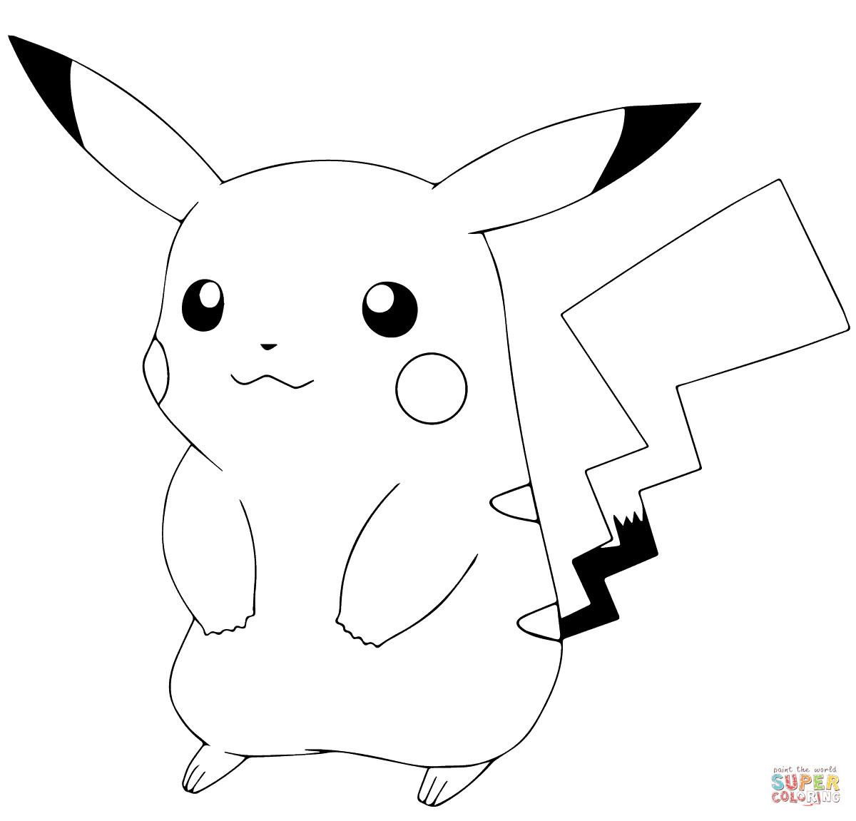 Pokémon Go Pikachu Coloring Page | Free Printable Coloring Pages - Pokemon Coloring Sheets Free Printable