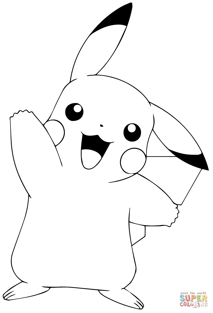 Pokémon Go Pikachu Waving Coloring Page   Free Printable Coloring Pages - Free Printable Pokemon Coloring Pages